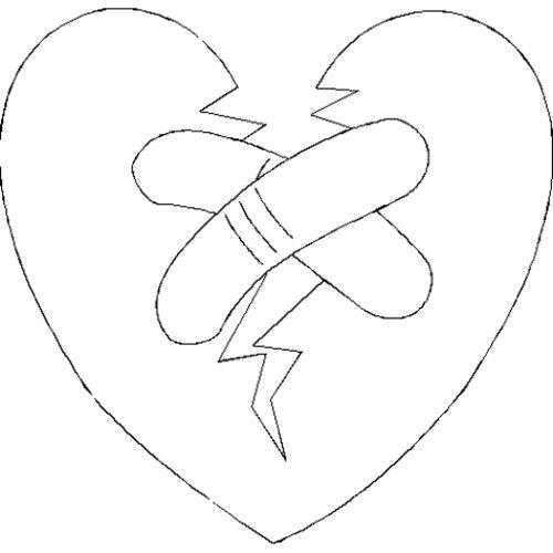 kleurplaten gebroken hart