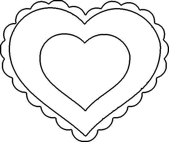 Kleurplaten Valentijn Hartjes.Hartjes Kleurplaat